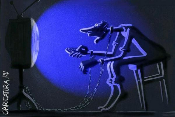 ne zabudte vyklyuchit televizor navsegda 2  Почему люди тратят треть жизни на разглядывание «голубого экрана»?