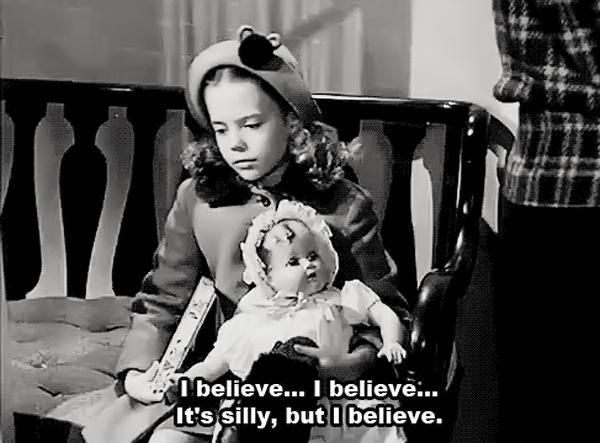 Перевод фразы: «Я верю. Я верю. Это глупо, но я верю!»